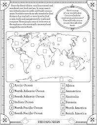 Map Activity Worksheets for First Grade   Homeshealth.info