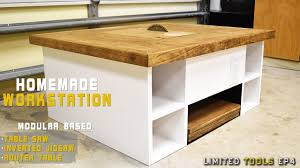 Homemade Table Saw, Jigsaw, Router Workstation Modular | Plans Available -  YouTube