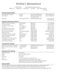 Bistrun Musical Theatre Resume Template Best Resume Collection How