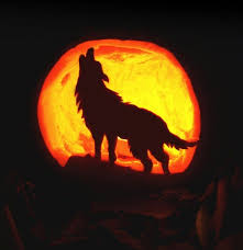 Wolf Pumpkin Carving Patterns Simple Decorating Design