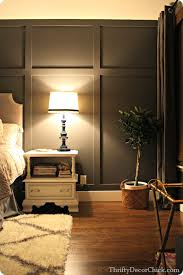 painting accent wallsDark gray accent wall from Thrifty Decor Chick