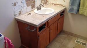 how to install a bathroom vanity. Fascinating Remodelaholic Updated Bathroom Single Sink Vanity To Double Of How Install Cabinets The Wall A T