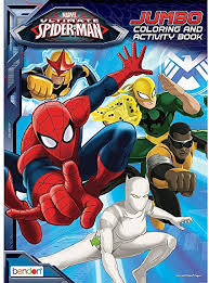 Spiderman make his own string. Amazon Com Bendon Publishing Ultimate Spider Man Jumbo And Activity Book 64 Pages Toys Games