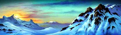 snowy mountains sunset ilrative landscape web header jpg