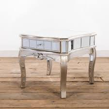 distressed mirrored furniture. Annabelle French Vintage Distressed Shabby Chic Silver Gilt Leaf Mirrored Side Table With Single Drawer Furniture S