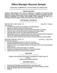 Admin Manager Cv Sample Office Manager Resume Sample Resume Companion