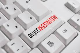 Writing Note Showing Online Registration Business Concept For