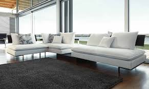 Contemporary Leather Sofa White Contemporary Furniture Elegant