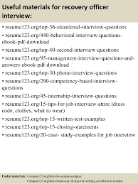 Recovery Officer Sample Resume Top 100 recovery officer resume samples 5