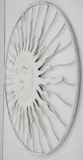 on metal wall art shabby chic with metal wall art shabby chic sun burst face