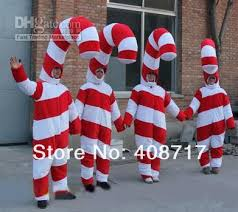 Candy Cane Theme Decorations Hot selling 100 Adult cute Christmas Candy Cane Mascot Costume 20