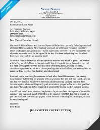babysitting letter babysitter cover letter sample tips resume companion babysitting