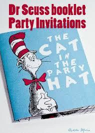 Invites Birthday Party Dr Seuss Birthday Party Book Invitation Im Topsy Turvy