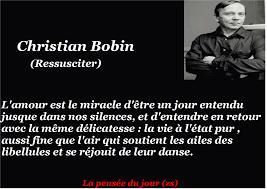 La Pensée Du Jour Lamour Christian Bobin Lire Mon Passe Temps