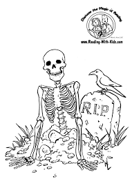 Small Picture Halloween Coloring Pages Skeleton Skeleton Pumpkin Free N Fun