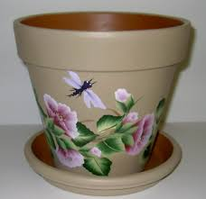 free images to paint on clay pots hand painted clay flower pots