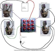 please help 1st project true bypass dpdt w led i just built a dual loop bypass box leds using aron s diagram for wiring the 3pdts