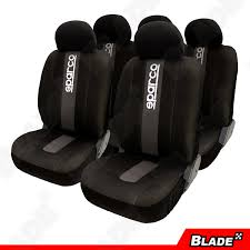 sparco spc1012 seat cover gray black