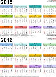 Word Template Calendar 2015 Full Size Planner Word Template For 2 Year Calendar 2015