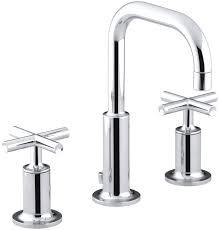 gooseneck bathroom sink faucet. purist widespread bathroom sink faucet with low cross handles and gooseneck spout u
