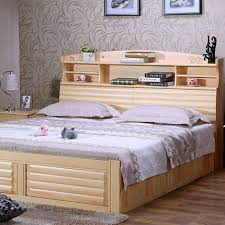 wooden furniture box beds. Zhuo Cheng Pine Furniture Minimalist Modern Double Bed 1.8 1.5 M High Box Storage Shelves Wooden Beds A