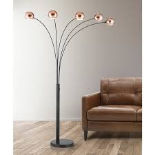 Hometrend Orbs 5 Light Arch Floor Lamp