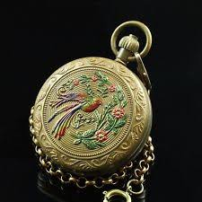 double hunter mechanical hand winding pocket watches full hunter copper peacock moon phase tourbillion wind up pocket watch for men