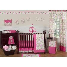 sweet jojo designs circles pink crib bedding and decor