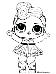 Coloring Pages Lol Doll Coloring Pages Surprise Dolls Flower Child