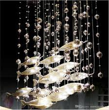 Modern glass lighting Contemporary Modern Glass Fly Fish Ceiling Light Swarm Fishes Chandelier Living Room Light Crystal Cognac Color Fishes Ceiling Lamps Glass Pendant Lamp Hanging Pendant Dhgatecom Modern Glass Fly Fish Ceiling Light Swarm Fishes Chandelier Living