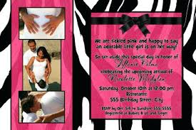 Collage Card Maker Photo Collage Card Maker Free Zebra Hot Pink Baby Shower Invitation