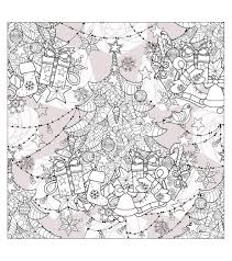 Christmas Coloring Paper Free Intricate Christmas Coloring Pages With Tree Adult Free