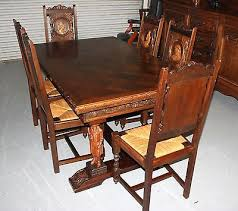 antique french oak dining table and chairs. beautifull antique french oak brittany carved dining table 6 chairs . and u