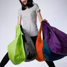 1 pieces Portable folding shopping <b>bag Large nylon bags</b> Thick <b>bag</b> ...