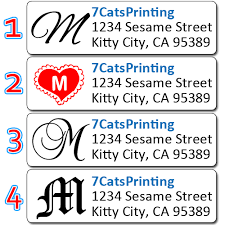 Printed Return Address Label Details About 80 Monogram Return Address Labels Personalized Shipping Stickers Custom Printed