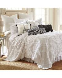 white king quilt set.  White Levtex Home Allie King Quilt Set In White And I