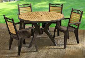 plastic patio table set off 70