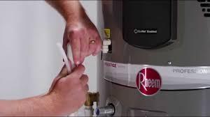 How To Install A Heat Pump Installing A Rheem Prestige Series Hybrid Heat Pump Water Heater