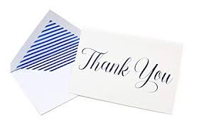 Thank You Cursive Font Metallic Foil Thank You Cards And Envelopes Classic Cursive Font 4 X 6 Inch Size Match Your Wedding Or Party Colors Set Of 20 Dark Blue