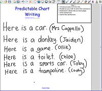 Predictable Chart Day 1 Predictable Chart Writing
