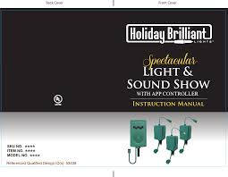 Holiday Brilliant Lights Remote Ty T7 Main Controller User Manual Toyo Electric Mfg