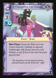 The Real Cost Wiki A Changeling Can Change My Little Pony Collectible Card