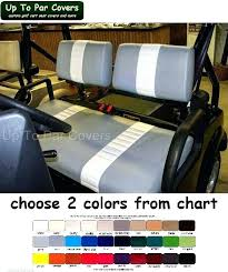 cart seat cover emerge custom golf cart front seat cover set two stripe staple on