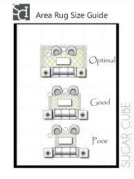 how big should a living room rug be sugar cube interior basics area rug size guide