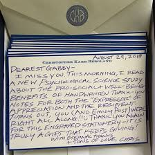 Thank You Notes Handwritten Thank You Notes Have Surprising Consequences