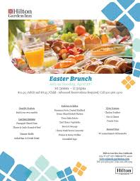 enjoy easter brunch at the hilton garden inn april 21 from 10 30 a m to 2 30 p m