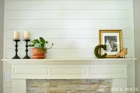 fireplace mantle plank wall tutorial