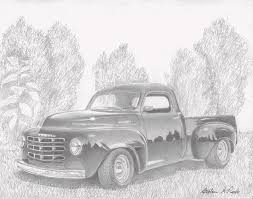 1949 Studebaker Pickup Truck Art Print Drawing by Stephen Rooks