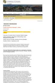 Quality Assurance Manager Job At University Of Colorado In Aurora
