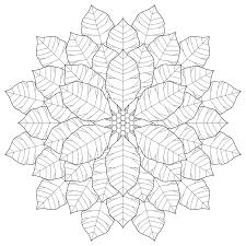 Small Picture Poinsettia Mandala Coloring Pages Fractal Coloring Page
